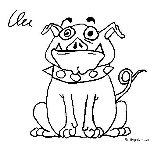 Dibujo de Perro hechizado para Colorear - Dibujos.net