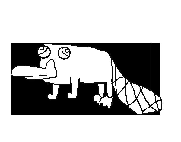 Dibujo de Perry el Ornitorrinco para Colorear - Dibujos.net