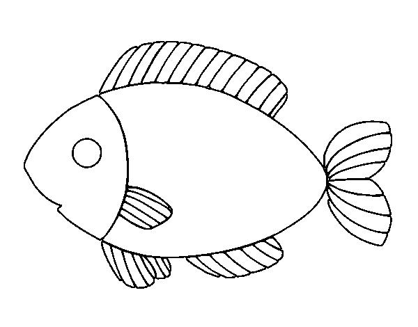 Dibujo De Pescado Para Colorear Dibujosnet