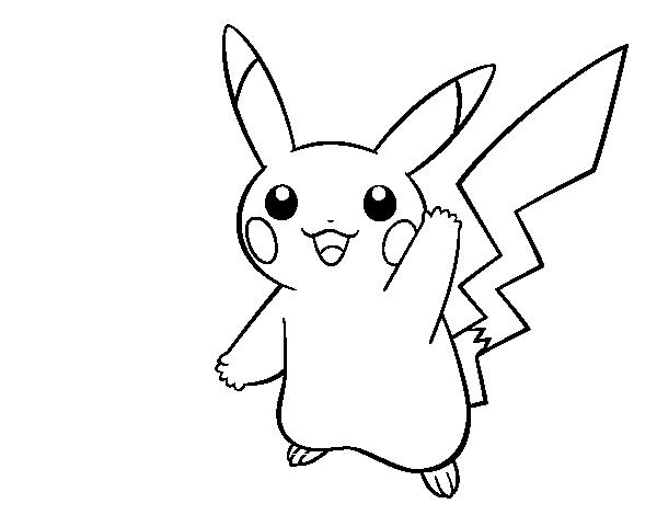 Dibujo De Pikachu Saludando Para Colorear Dibujosnet
