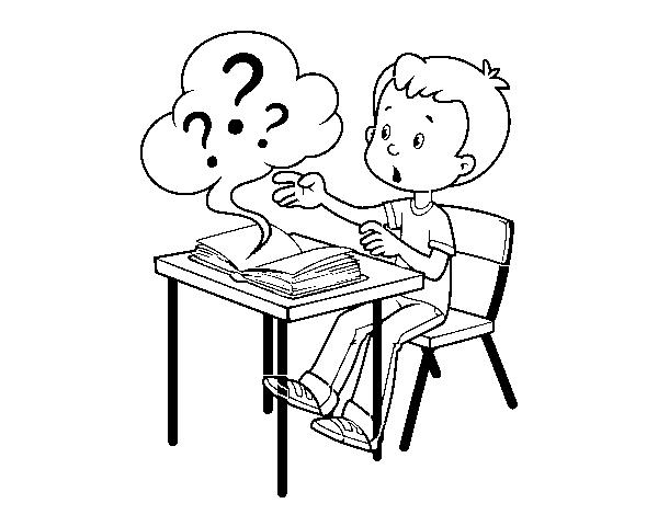 Dibujo de Preguntas de colegio para Colorear - Dibujos.net