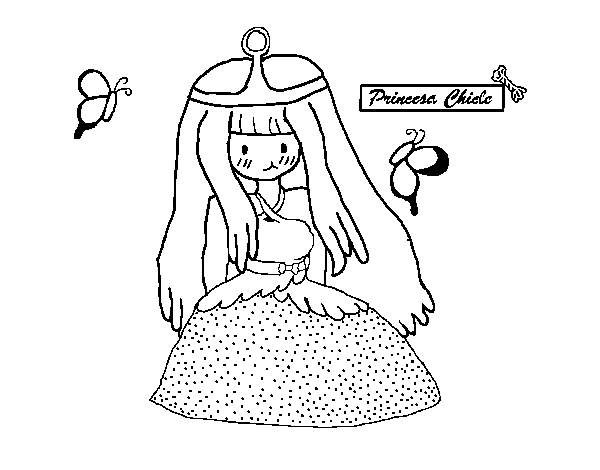 Dibujo de Princesa chicle para Colorear - Dibujos.net