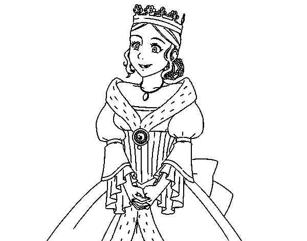 Dibujo de Princesa medieval para Colorear   Dibujos.net