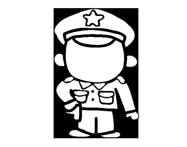 Dibujo de Sargento para Colorear - Dibujos.net