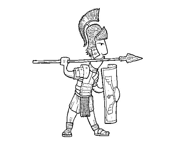 Dibujo De Soldado Romano En Defensa Para Colorear Dibujosnet