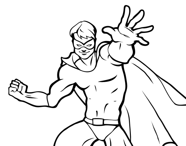 Dibujo de Superhéroe enmascarado para Colorear - Dibujos.net