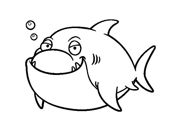 Dibujo de Tiburón blanco para Colorear - Dibujos.net