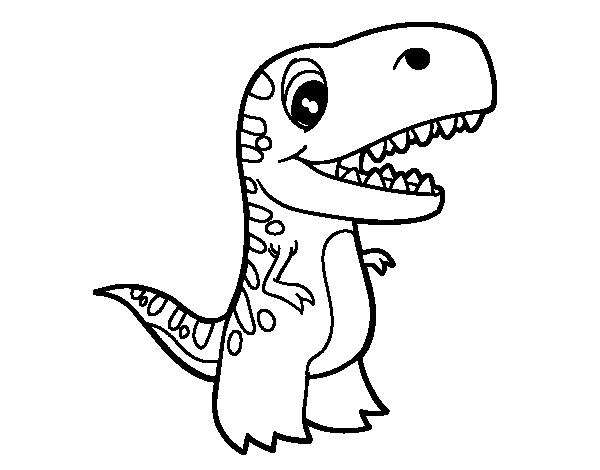 Dibujo de Tiranosaurio bebé para Colorear - Dibujos.net
