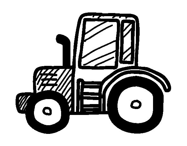 Dibujo de Tractor Lamborghini para Colorear - Dibujos.net