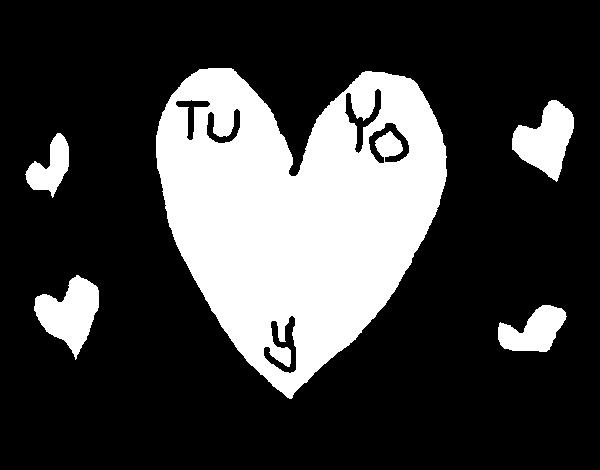Dibujo de Tu y yo para Colorear - Dibujos.net
