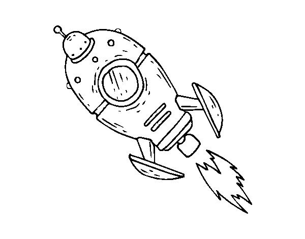 Dibujo de Un cohete espacial para Colorear - Dibujos.net