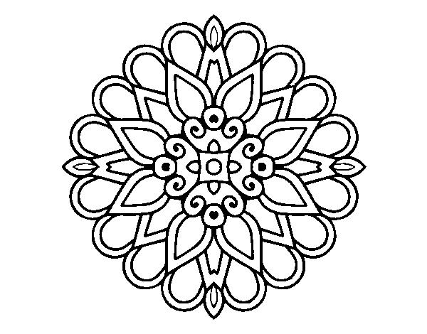 Colorear Mandalas Mandalas Dibujos Para Colorear Mandalas: Dibujo De Un Mandala Estilo árabe Para Colorear