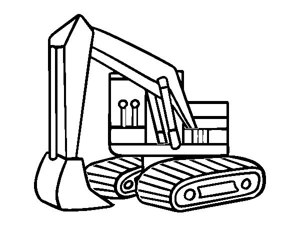 Dibujo De Una Excavadora Para Colorear Dibujosnet