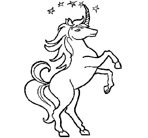 Dibujo de Unicornio para Colorear - Dibujos.net