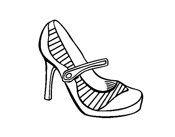 Dibujo De Zapatos De Hombre Para Colorear Dibujos Para Colorear